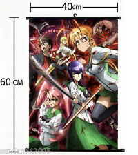 40*60cm Anime HIGHSCHOOL OF THE DEAD Wall Poster Scroll Home Decor cosplay