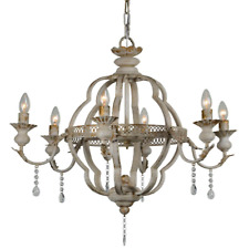 Classic Metal Chandelier 6 Arm Candelabra 27 Inches Wide