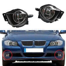 Pair Clear Lens Driving Fog Lights Lamps For BMW E90 E91 06-08 325 328 335 Sedan