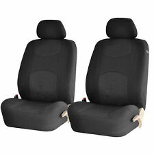 4PC BLACK AIRBAG COMPATIBLE POLY MESH NET FRONT CAR SEAT COVERS FOR NISSAN QUEST