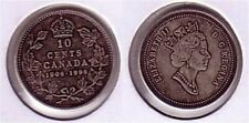 1908 1998 Canada Silver 10 Cent Dime Antique Finish