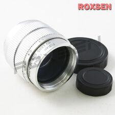 "35mm F/1.7 C Mount CCTV lens 2/3"" Silver Body for M4/3 Olympus Panasonic Sony"