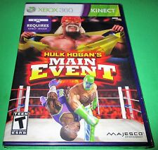 Hulk Hogan's Main Event Microsoft Xbox 360 - Kinect Required - New! Free Ship!