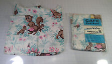 "ADORABLE Set of NEW Vintage Forest Animal CAFE CURTAINS - 36"" (2 @ 30"" x 34"")"
