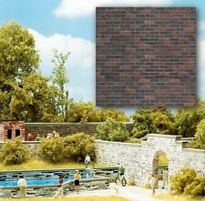 BUSCH HO scale ~ 'CLINKER BRICK' ~ PRINTED CARD SHEETS #7424 suit model train