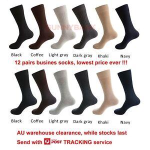 Black Business Dress Socks 12 Pairs Plain Rib Work School Casual Bulk Comfort
