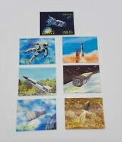 1972 Bhutan CH & NU Conquest of Space Stamp Lot of 7 Lenticular 3D NASA Apollo