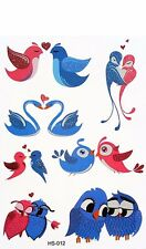 Cute Birds Child Temporary Tattoo Body Art  Kids Fake Tattoo Stickers