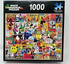 """White Mountain Jigsaw Puzzle - 1000 pieces - """"POP CULTURE"""" - Made in the USA"""