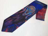 Ralph Marlin Tie Edward Munch The Scream Vintage 1994 Novelty RM Style Necktie