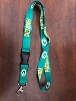 Green Bay Packers Football Lanyard New NFL Clip Detachable ID