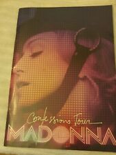 MADONNA 2006 CONFESSIONS Tour Concert Program Tour Book with stickers