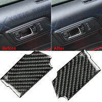 For Ford Mustang 2015-2018 2019 Carbon Fiber Door Handle Bowl Cover Trim Sticker
