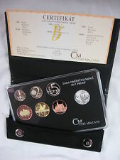 TSCHECHIEN 2011 KMS COIN SET PP PROOF - LUXUS-VARIANTE IM LEDER-ETUI -