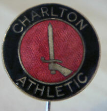 More details for charlton athletic fc vintage club crest type badge stick pin in chrome 22mm dia