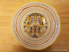 Deruta Pottery Italy Hand Painted Raffaellesco Serving Bowl Scalloped Edge 12""