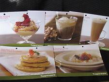 SET OF 5 AUTUMN 2005 tupperware recipe cards BRAND NEW