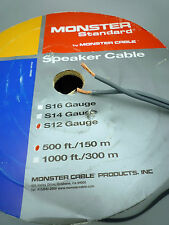 Monster Cable S-12 Raw speaker cable Sold by the METER DIY speaker cables