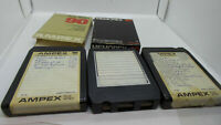 Lot of 3 Different Recorded 8 Track Tapes