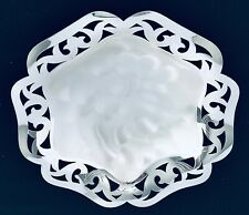"""WMF IKORA SILVERPLATED DISH TARNISH RESISTANT PIERCED GLOSSY & BRUSHED FOOTED 8"""""""