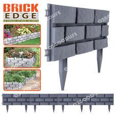 4-Pack Brick Edge Garden Edging Grey  easy to interlock hammer into soil
