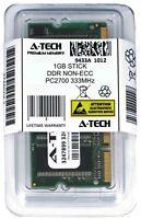 A-Tech 1GB PC2700 Laptop SODIMM DDR 333 MHz 200-Pin Notebook Memory RAM 1G 2700