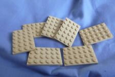 Lego Plates 4 x 6 Ref 3032 in Tan x 7pcs