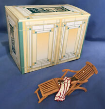 Take A Seat Raine Miniature Dollhouse On Deck Chair Biltmore Estate Box, #24044