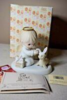 Precious Moments Heaven Bless You Easter Seal 1999 Porcelain Figure w Box 456314