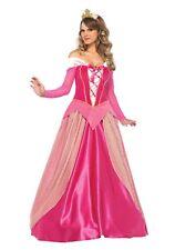 Adult  Sleeping Beauty Aurora Princess Fancy Dress Costume Women Party Gown