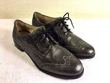 Cole Haan Grand OS womens black silver wing tip shoe size 6 B new without box
