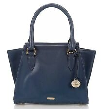 NWT Brahmin Dusk Topsail Blue Smooth Leather Mini Priscilla Satchel Bag Purse