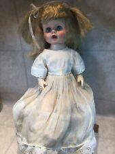 "Vtg 1950's Plaything Stuffed Vinyl/Rubber Doll 19.5"" Sleep Eyes w Vtg dress"