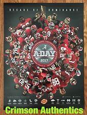 2017 Alabama Crimson Tide Football Schedule Poster ADay Nick Saban Calvin Ridley