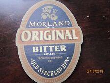 """MORLAND Original Bitter Old Speckled Hen Vintage Cardbpard 4"""" Coaster Souvenir"""