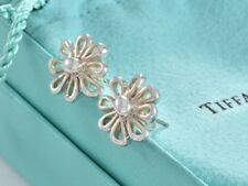 Limited Tiffany & Co Paloma Picasso Silver Daisy Flower Love Earrings +Pouch