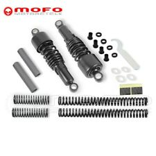 Front Rear Shock Absorbers W/ Fork Spings For Harley XL1200L Sportster 1200 Low