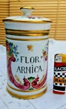 ancien pot de pharmacie en porcelaine de Paris flor arnica