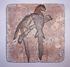 "Parrot plastic travertine tile mold 6"" x 6"" x 1/3"""