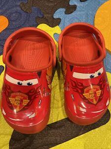 Kids' Crocs Fun Lab Disney  Pixar Cars Lightning McQueen Clog Size C 10