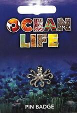 Octopus Silver Pewter Lapel Pin Badge