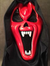 Rare Easter Unlimited Fun World Red Vampire Hooded Scream Mask Ghostface