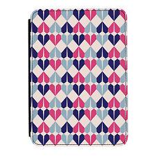 Geométrico Corazones Azul Rosa Kindle Paperwhite Toque PU Funda Libro de Piel