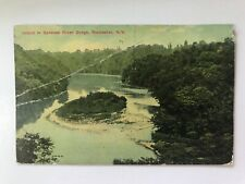 Island in Genesee River Gorge Rochester New York NY Postcard
