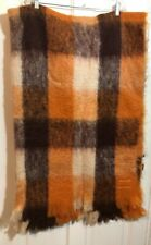 "Glen Cree Mohair Throw Blanket Made In Scotland 50"" x 75"" Nice!"