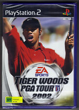 PS2 Tiger Woods PGA Tour 2002, UK Pal, Brand New & Sony Factory Sealed