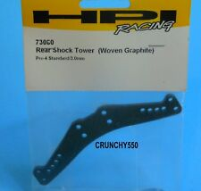 HPI PRO 4 73080 REAR SHOCK TOWER WOVEN GRAPHITE RC Part