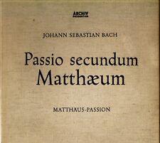 Bach PASSIO SECUNDUM MATTHAEUM Karl Richter 4xLP Box ARCHIV 1st APM 14125/28 @Ex