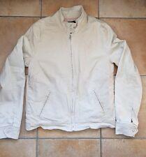 Gap Ladies Beige Bomber Jacket Zip Cotton Spandex Size Medium M/M