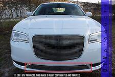 GTG 2015 - 2018 Chrysler 300 and 300C 1PC Polished Overlay Bumper Billet Grille